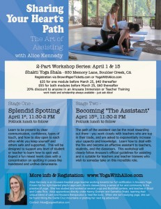 Sharing Your Heart's Path - Flyer
