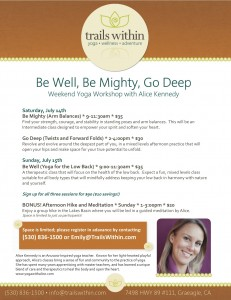 Be Well Be Mighty Go Deep Poster