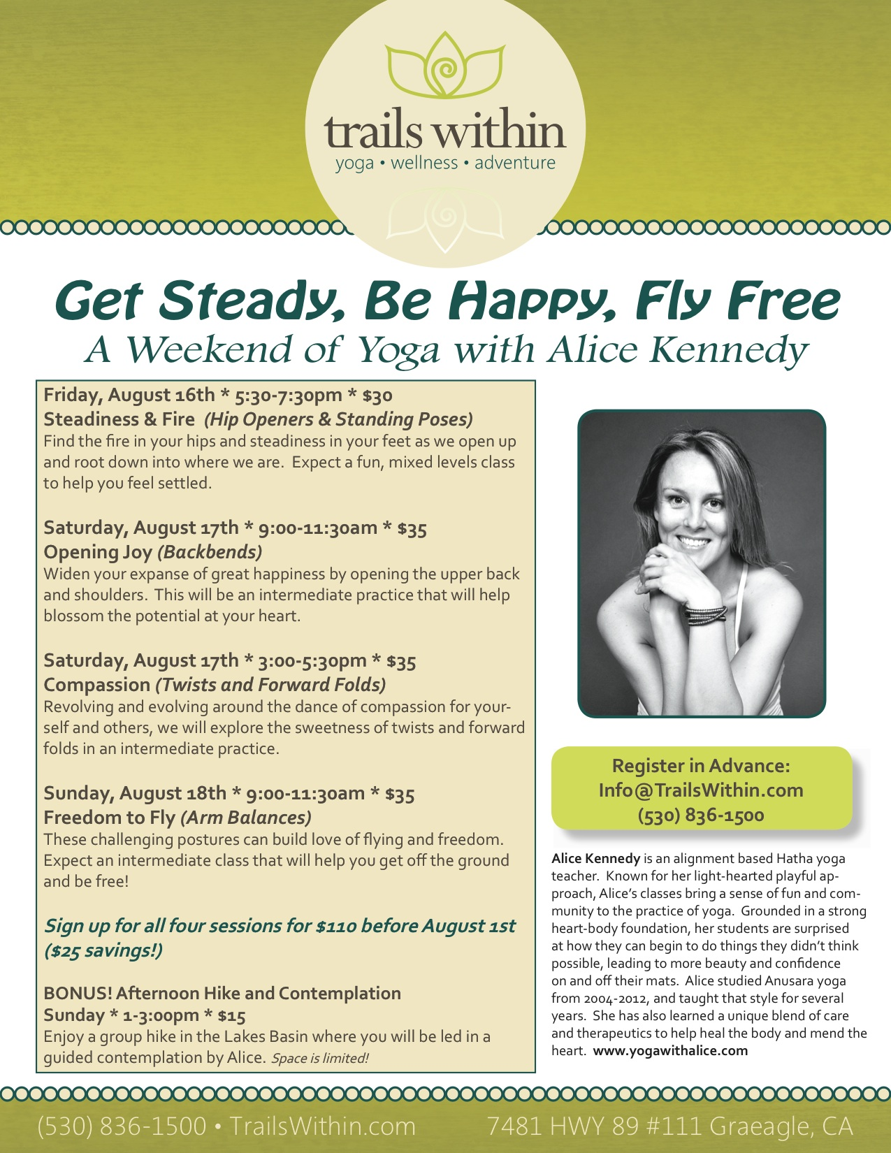 Get Steady, Be Happy, Fly Free poster